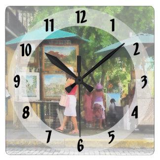 サンファンの美術展 スクエア壁時計