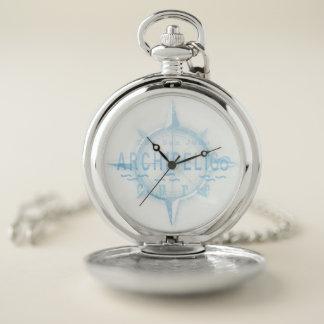 サンファン多島海の治療の壊中時計か銀 ポケットウォッチ