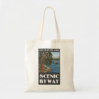 サンファン島の景色のわき道の予算のバッグ トートバッグ