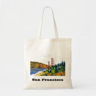 サンフランシスコおよび美しいゴールデンゲートブリッジ トートバッグ
