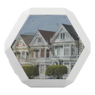 サンフランシスコのアラモの正方形のビクトリアンな家 ホワイトBluetoothスピーカー