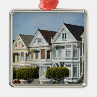 サンフランシスコのアラモの正方形のビクトリアンな家 メタルオーナメント