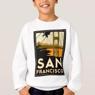 サンフランシスコのアールデコ旅行ポスター スウェットシャツ