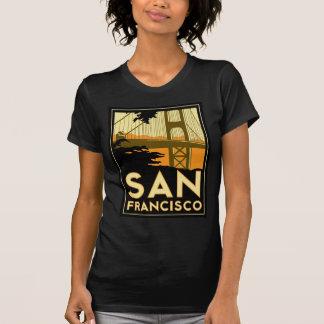 サンフランシスコのアールデコ旅行ポスター Tシャツ