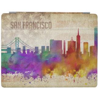 サンフランシスコのカリフォルニア|の水彩画都市スカイライン iPadスマートカバー