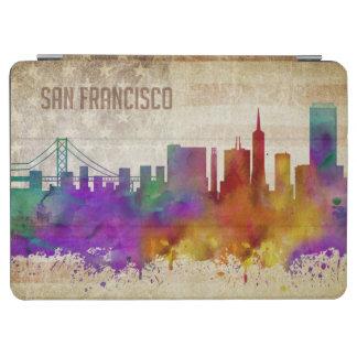 サンフランシスコのカリフォルニア|の水彩画都市スカイライン iPad AIR カバー