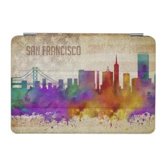 サンフランシスコのカリフォルニア|の水彩画都市スカイライン iPad MINIカバー