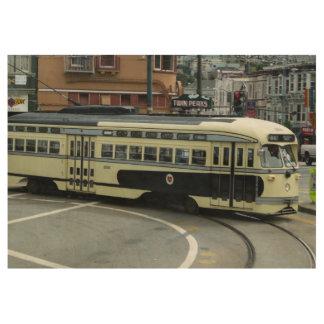 サンフランシスコのケーブル・カー ウッドポスター