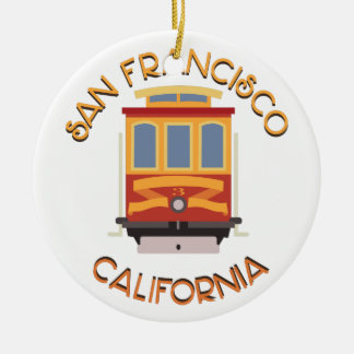 サンフランシスコのケーブル・カー セラミックオーナメント