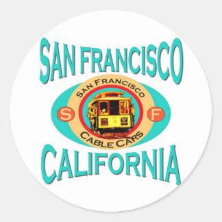 サンフランシスコのケーブル・カー ラウンドシール