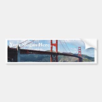 サンフランシスコのゴールデンゲートブリッジそして城砦ポイント バンパーステッカー