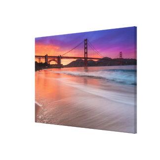 サンフランシスコのゴールデンゲートブリッジの捕獲 キャンバスプリント