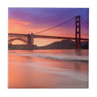 サンフランシスコのゴールデンゲートブリッジの捕獲 タイル