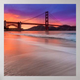 サンフランシスコのゴールデンゲートブリッジの捕獲 ポスター