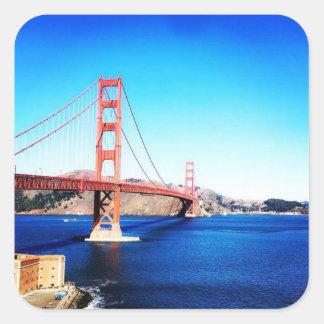 サンフランシスコのゴールデンゲートブリッジカリフォルニア スクエアシール