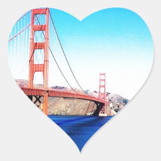 サンフランシスコのゴールデンゲートブリッジカリフォルニア ハートシール