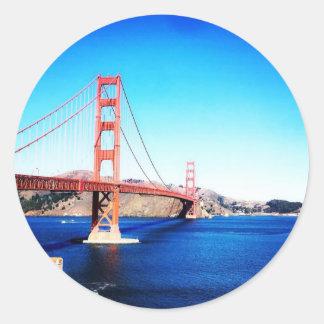 サンフランシスコのゴールデンゲートブリッジカリフォルニア ラウンドシール