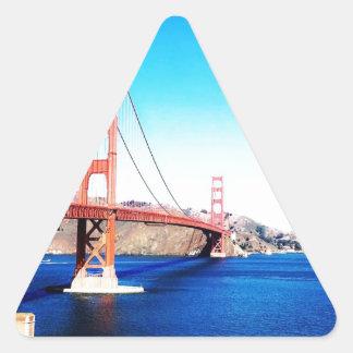 サンフランシスコのゴールデンゲートブリッジカリフォルニア 三角形シール