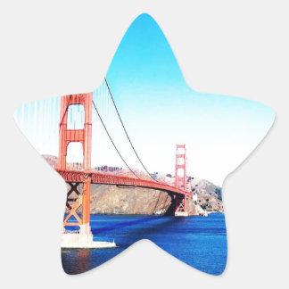 サンフランシスコのゴールデンゲートブリッジカリフォルニア 星シール