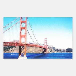 サンフランシスコのゴールデンゲートブリッジカリフォルニア 長方形シール
