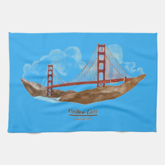 サンフランシスコのゴールデンゲートブリッジ キッチンタオル