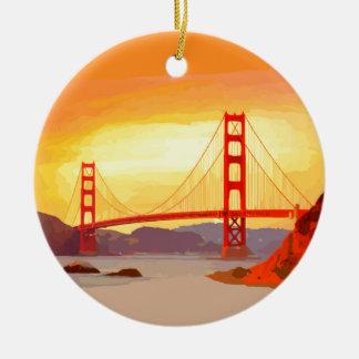 サンフランシスコのゴールデンゲートブリッジ セラミックオーナメント