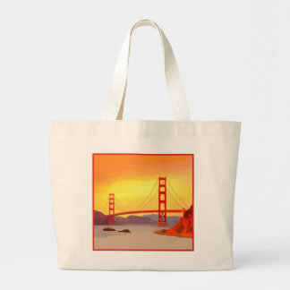 サンフランシスコのゴールデンゲートブリッジ ラージトートバッグ