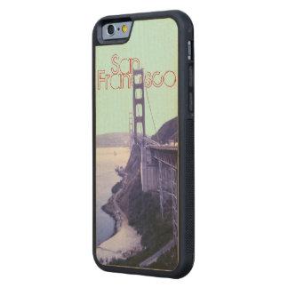 サンフランシスコのゴールデンゲートブリッジSF CarvedメープルiPhone 6バンパーケース