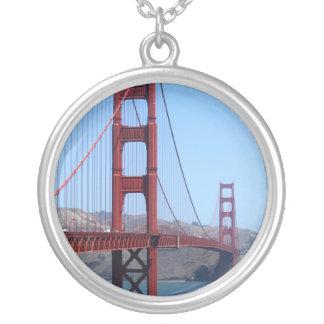 サンフランシスコのゴールデンゲート シルバープレートネックレス