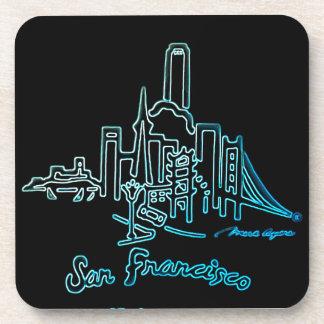 サンフランシスコのスカイラインのコラージュ コースター