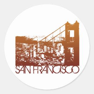 サンフランシスコのスカイラインのデザイン ラウンドシール