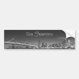 サンフランシスコのスカイラインのバンパーステッカー バンパーステッカー
