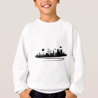 サンフランシスコのスカイラインの塩水のリーファーのワイシャツ スウェットシャツ