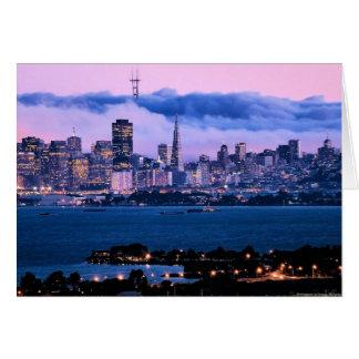 サンフランシスコのスカイラインの挨拶状 カード