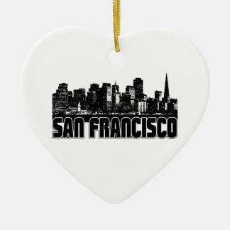 サンフランシスコのスカイライン セラミックオーナメント