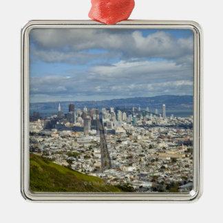 サンフランシスコのスカイライン メタルオーナメント