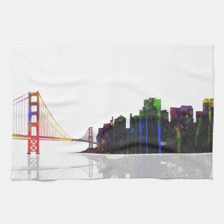 サンフランシスコのスカイライン-台所ふきん キッチンタオル