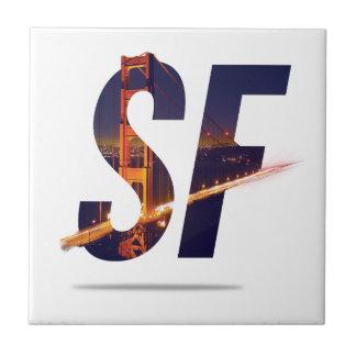 サンフランシスコのタイポグラフィ タイル