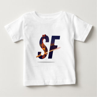 サンフランシスコのタイポグラフィ ベビーTシャツ