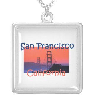 サンフランシスコのネックレス シルバープレートネックレス