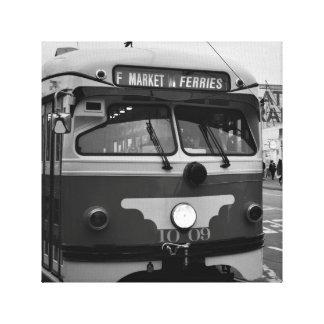 サンフランシスコのバス路線 キャンバスプリント
