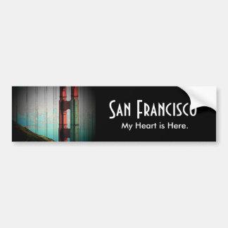 サンフランシスコのバンパーステッカー バンパーステッカー