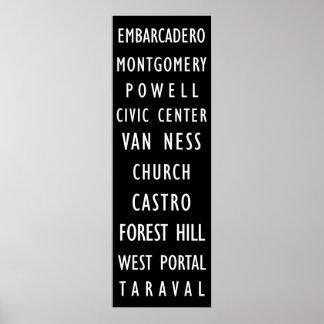 サンフランシスコのヴィンテージの運輸スクロールポスター ポスター