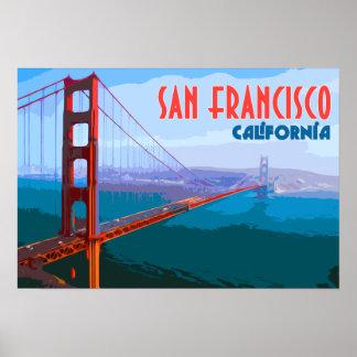 サンフランシスコのヴィンテージ旅行芸術ポスター ポスター