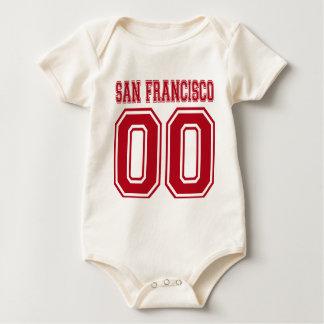 サンフランシスコの倍ゼロ ベビーボディスーツ