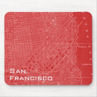 サンフランシスコの写実的な地図 マウスパッド