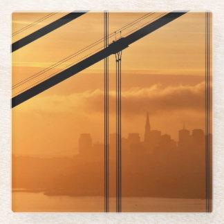 サンフランシスコの前のゴールデンゲートブリッジ ガラスコースター