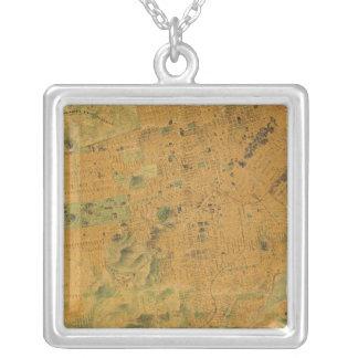 サンフランシスコの勲爵士の地図 シルバープレートネックレス