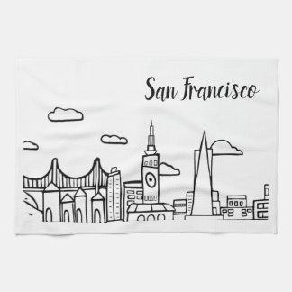 サンフランシスコの台所皿タオル キッチンタオル