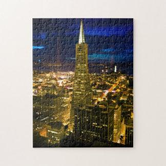 サンフランシスコの夜眺め。 ジグソーパズル